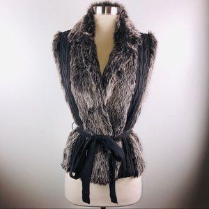 NWT XoXo Grey Faux Fur Vest